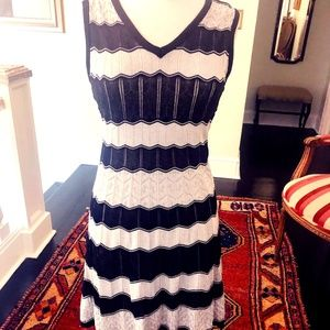 M Missoni Black And White Knit Dress S Size 42